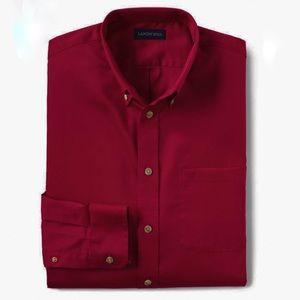 NEW Lands' End LongSleeve Button Down Chino Shirt